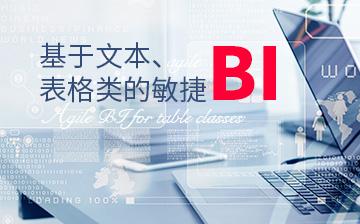基于文本、表格類的敏捷BI