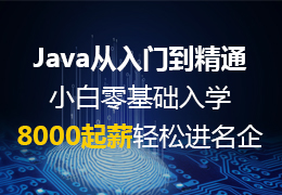 Java从入门到精通小白零基础入学8000起薪轻松进名企