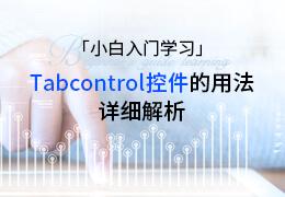 小白入门学习Tabcontrol控件的用法的详细解析